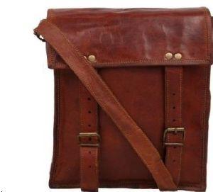 Vintage Brown Leather iPhone Messenger Bag