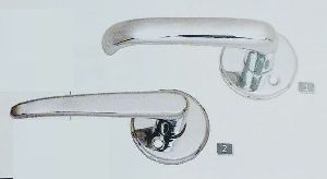 Silver Rose Lever Handles