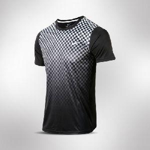 Black and Grey Mens DRI-Fit Shirt