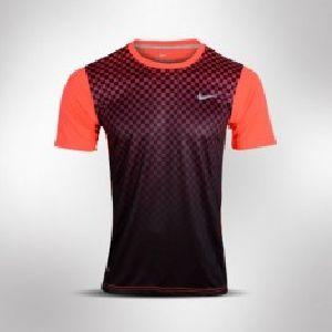 Black and Orange Mens DRI-Fit Shirt