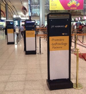 Airport Advertising Standees