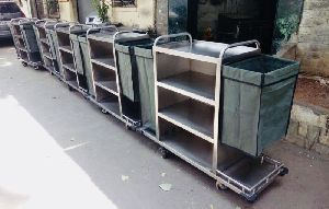 Stainless Steel Housekeeping Trolley