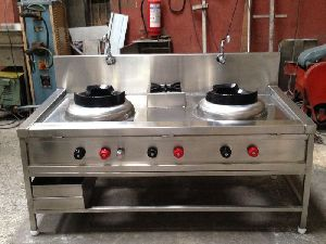 Stainless Steel Chinese Gas Stove 01