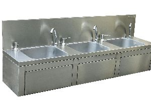 Stainless Steel Knee Operated Hand Wash Station 01