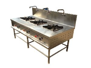 Stainless Steel Three Burner Gas Stove 01