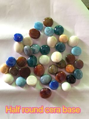 Opal Round Glass Pebbles 13
