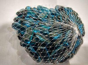 Transparent Capsule Shaped Glass Pebbles 03