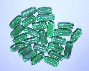 Transparent Capsule Shaped Glass Pebbles 10