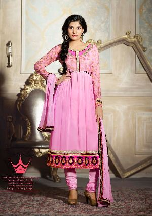 25584 Zikkra Semi Stitched Suit