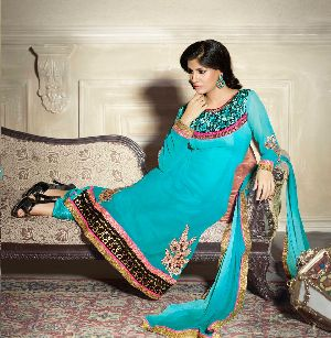25586 Zikkra Semi Stitched Suit