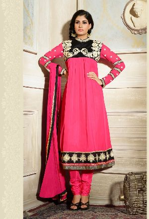 25587 Zikkra Semi Stitched Suit