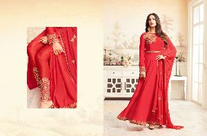 26307 Trendy Semi Stitched Suit