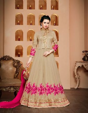 26570 Thankar Semi Stitched Suit