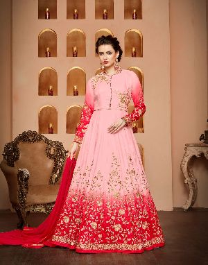 26572 Thankar Semi Stitched Suit