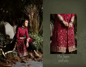 31149 Taj Maria Semi Stitched Suit