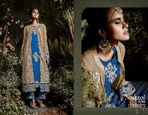 31150 Taj Maria Semi Stitched Suit
