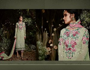31153 Taj Maria Semi Stitched Suit