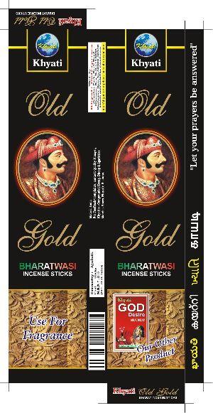 Gold Bharatwasi Incense Stick