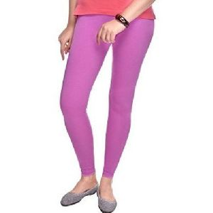Purple Straight Fit Leggings