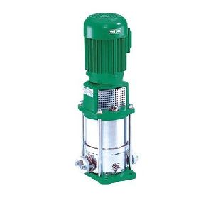 Multi stage inline vertical pump