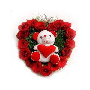 Roses With Soft Teddy