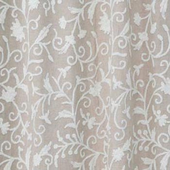 Antimal Hand Embroidered Linen Crewel Curtain Fabric