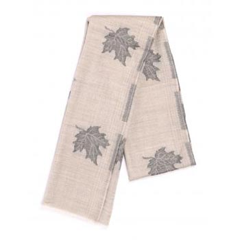 Chinar Leaf Pure Natural Jacquard Weave Cashmere Scarf