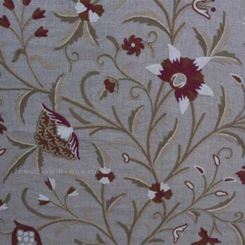 Danzdaar Crewel Wool Embroidered Linen Fabric