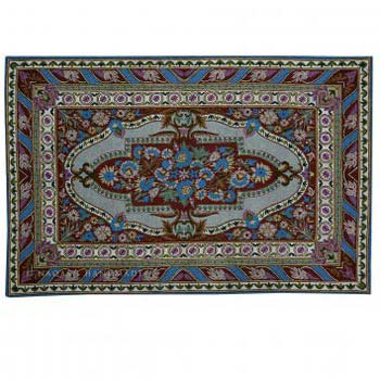 Firdaus Wool Embroidered Traditional Handmade Rug