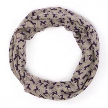 Horse Pure Natural Hand Printed Pure Cashmere Scarf