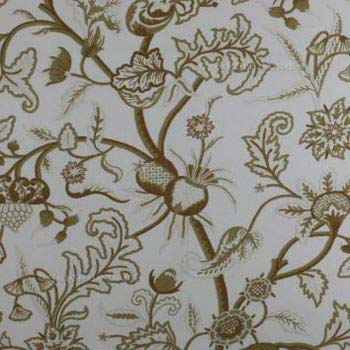 Kishtwar Crewel Hand Embroidered Handloom Cotton Fabric