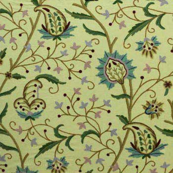 Paisley Crewel Fabric Hand Embroidered Cotton Fabric