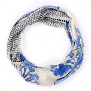 Sicily Pure Organic Hand Print Cashmere Scarf