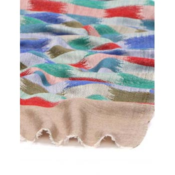Soft Beautiful Jacquard Brick Pattern Pure Cashmere Scarf