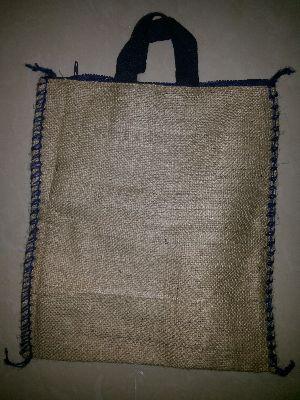 Jute Rice Bag with Zipper & Cotton Handle