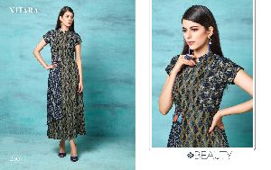 2307 Gown Style Kurti