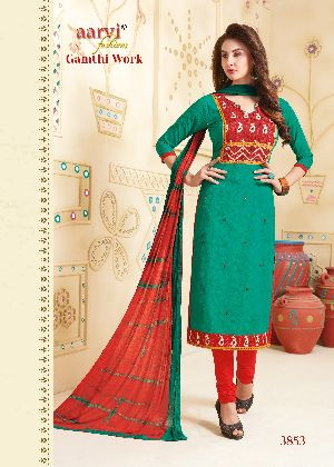 3853 Gamthi Work Dress Material