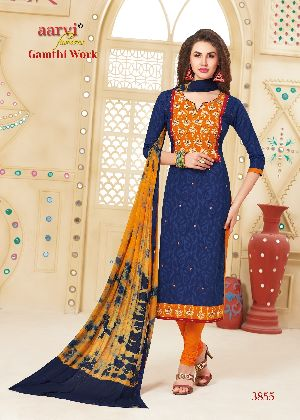3855 Gamthi Work Dress Material