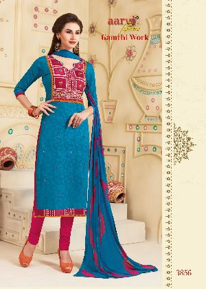 3856 Gamthi Work Dress Material