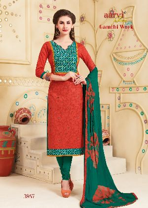 3857 Gamthi Work Dress Material