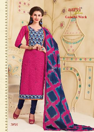 3858 Gamthi Work Dress Material