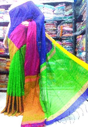 Silk Cotton MAHA Par Saree