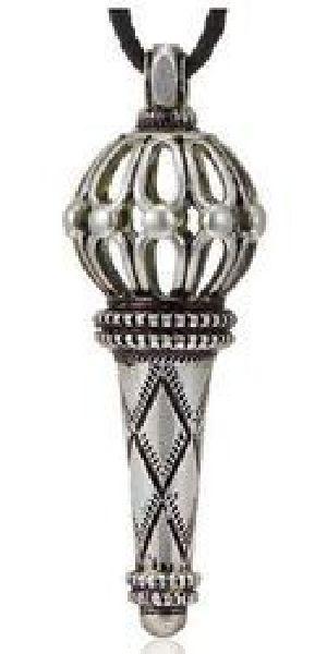 925 Silver Bajrang Bali Gada Pendant