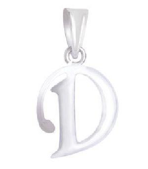 925 Sterling Silver D Alphabet Pendant
