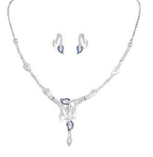 925 Sterling Silver Necklace Set 04