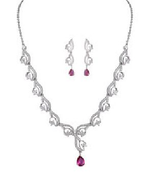 925 Sterling Silver Necklace Set 05
