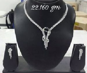 925 Sterling Silver Necklace Set 08