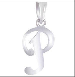 925 Sterling Silver P Alphabet Pendant
