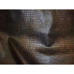Dark Black and Brown Leather Upholstery Fabric