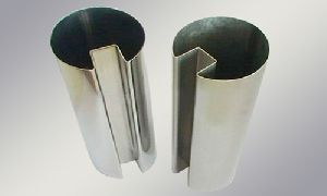 Stainless Steel Oval Single Slot Pipes